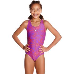 speedo Boom Allover Badpak Kinderen roze/violet